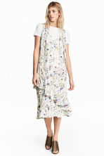 Crêpe dress - Natural white/Floral - Ladies | H&M CN 1