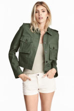 Short cargo jacket - Dark green - Ladies | H&M GB 1