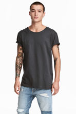 Cotton jersey T-shirt - Dark grey - Men | H&M 1
