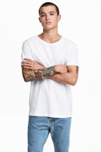 Cotton jersey T-shirt - White - Men | H&M 1