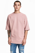 Short-sleeved sweatshirt - Pale pink - Men | H&M CN 1