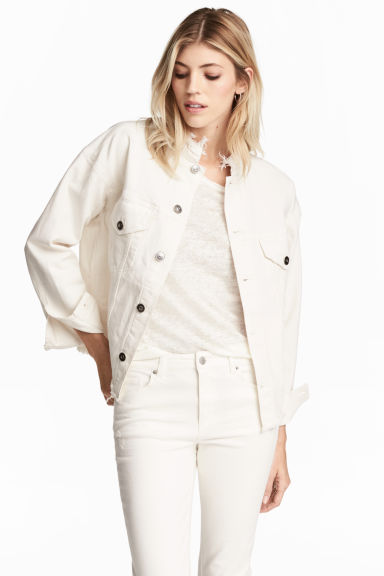 Giubbotto di jeans - Denim bianco - DONNA | H&M IT 1