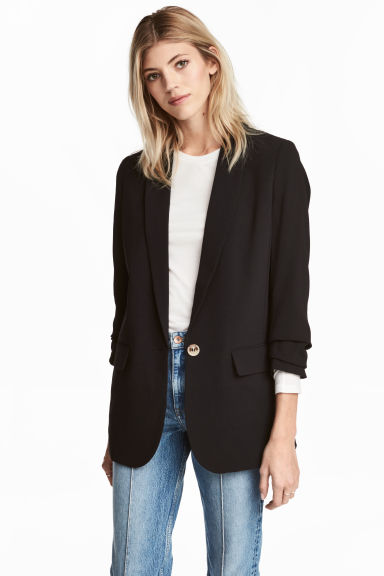 Long jacket - Black -  | H&M 1