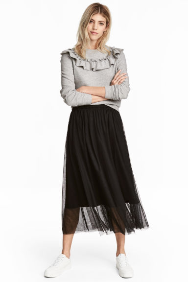 Tulle Skirt Black Ladies H Amp M Gb