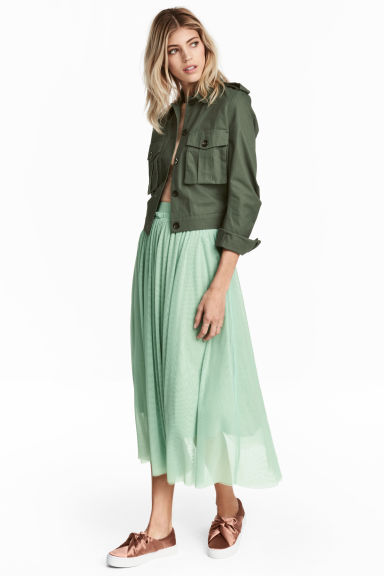 Tulle skirt - Mint green - Ladies | H&M GB 1