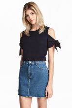 Tricot top - Donkerblauw - DAMES | H&M BE 1