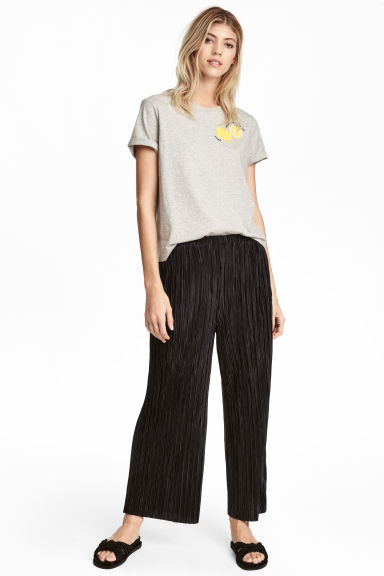 Pleated trousers - Black - Ladies | H&M CA