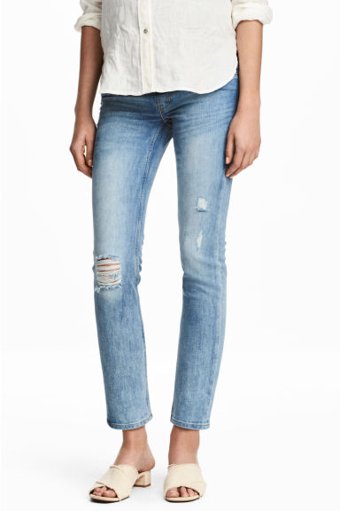 MAMA Skinny Ankle Jeans - Light denim blue/Trashed - Ladies | H&M CN 1