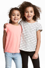 Lot de 2 tops en jersey - Gris clair chiné - ENFANT | H&M FR 1