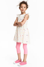 3/4-length leggings - Neon pink marl -  | H&M 1