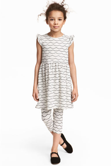 3/4-length leggings - Light grey marl - Kids | H&M CA 1