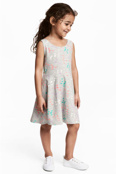 Jersey dress - Grey/Butterflies -  | H&M 1