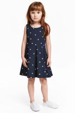 Jersey dress - Dark blue/Spotted -  | H&M 1