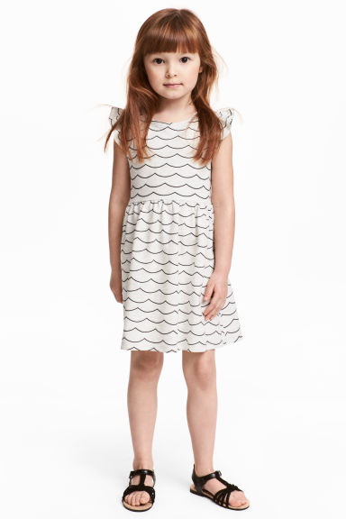 Jersey dress - Light grey marl - Kids | H&M