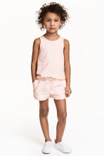 Jersey shorts - Light pink/Butterflies - Kids | H&M CN 1