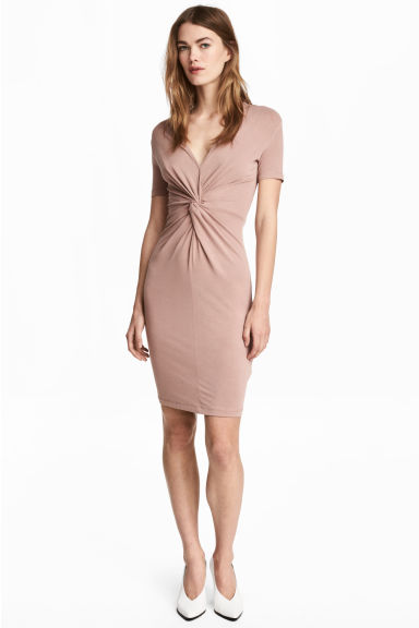 Dress with tie detail - Powder - Ladies | H&M GB 1