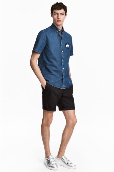 Short chino shorts - Black - Men | H&M CN 1