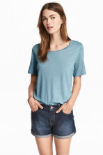 Jersey top - Turquoise - Ladies | H&M 1