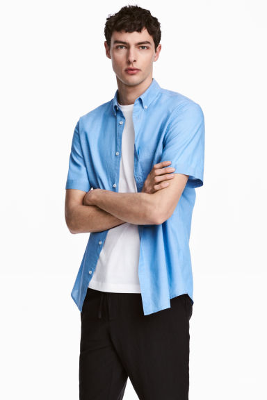 Overhemd - Regular fit - Blauw/chambray - HEREN | H&M NL 1