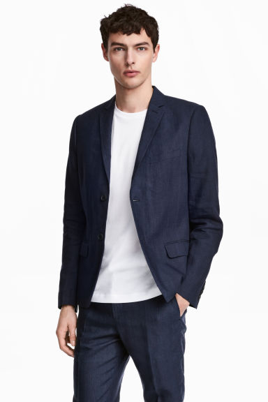 Linen jacket Slim fit Model