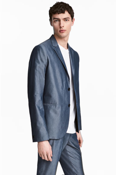 Blazer in chambray Slim fit Modello