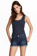 MAMA 2-pack nursing tops - Dark blue/Spotted - Ladies | H&M 1