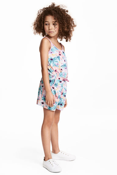 Jersey playsuit - Light pink/Patterned - Kids | H&M 1
