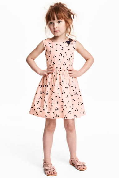 Patterned cotton dress - Pink - Kids | H&M 1
