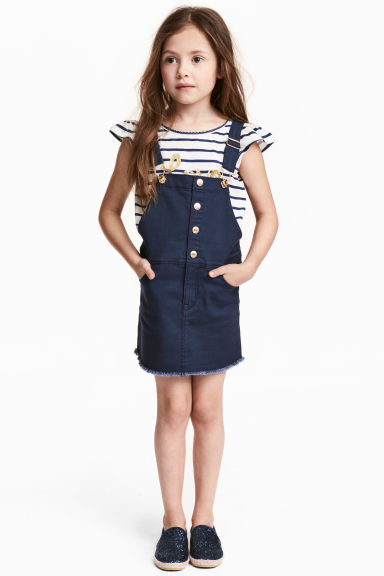 Dungaree dress - Dark blue - Kids | H&M CN 1