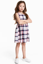 Patterned jersey dress - Pink/Checked - Kids | H&M 1