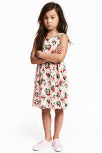 Patterned jersey dress - Light pink/Strawberries - Kids | H&M 1