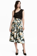 Calf-length skirt - Mint green/Floral - Ladies | H&M 1