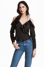 Cold shoulder blouse - Black - Ladies | H&M CN 1