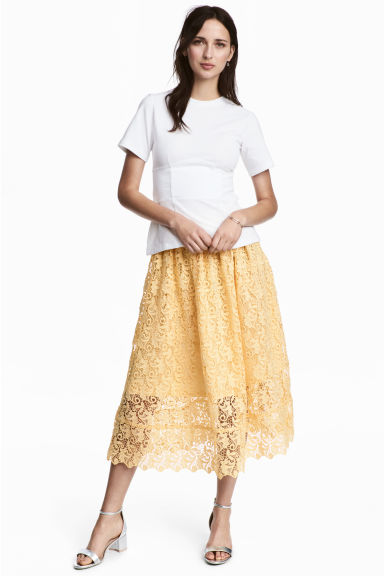 Gonna in pizzo - Giallo - DONNA | H&M IT 1