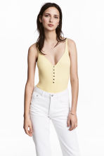 Ribbed body - Light yellow - Ladies | H&M GB 1