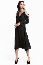 Wrapover dress - Black - Ladies | H&M 1