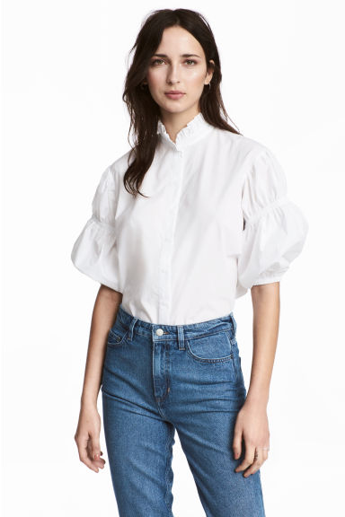 Cotton blouse - White - Ladies | H&M 1