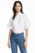 Cotton blouse - White -  | H&M 1