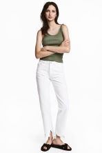 Straight Regular Jeans - Denim blanc -  | H&M FR 1