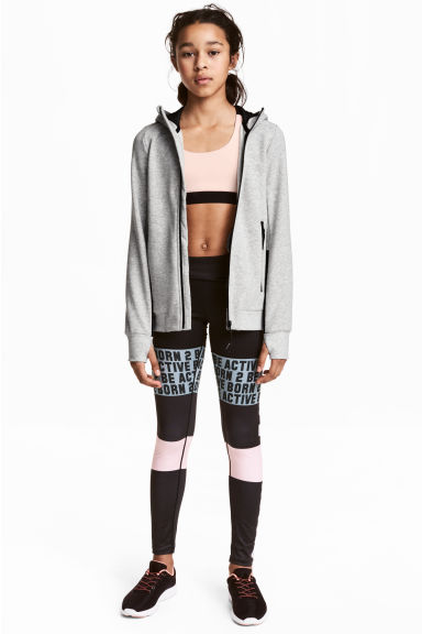 Collant training - Noir/texte -  | H&M FR 1