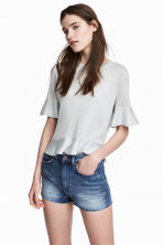 Flounced top - Grey - Ladies | H&M CN 1