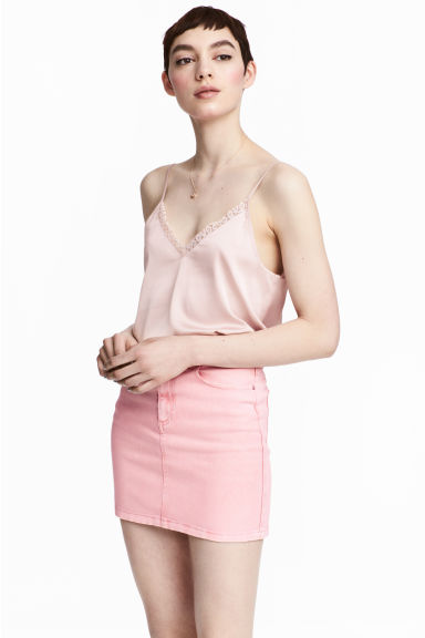 Denim skirt - Pink - Ladies | H&M