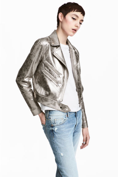 Biker jacket - Silver - Ladies | H&M 1