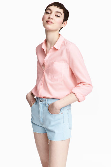 棉質襯衫 - Light pink - Ladies | H&M 1