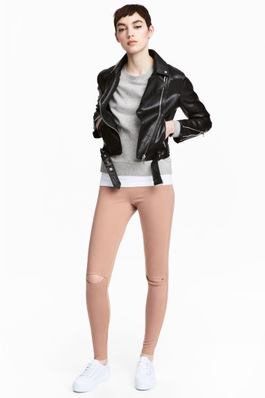 Cut-out leggings - Beige - Ladies | H&M 1