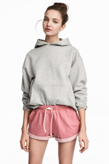 Sweatshirt shorts - Pink marl - Ladies | H&M 1