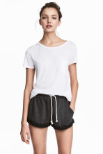 Sweatshirt shorts - Black marl - Ladies | H&M CA 2
