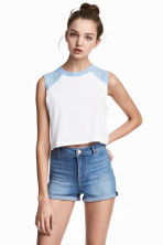 Short vest top - Blue - Ladies | H&M 1