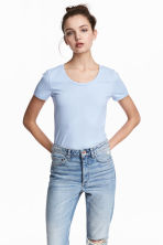 Jersey top - Light blue - Ladies | H&M 1