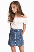 Off-the-shoulder blouse - White -  | H&M 1